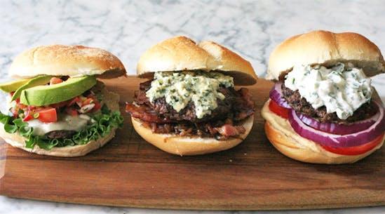 Three Hot Burger Toppings