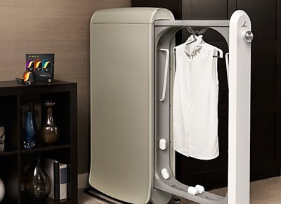 An at-home dry-cleaning machine