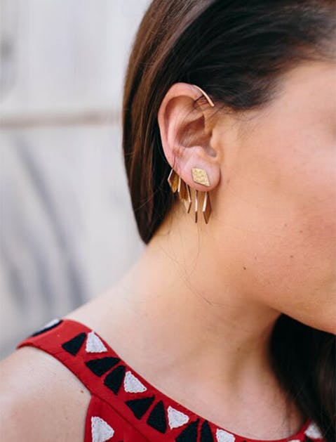 Raven and Lily Earrings