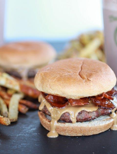 peanut burger