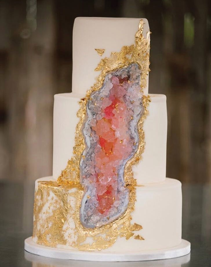 13 Geode Wedding Cake Ideas That Are Stunning Purewow