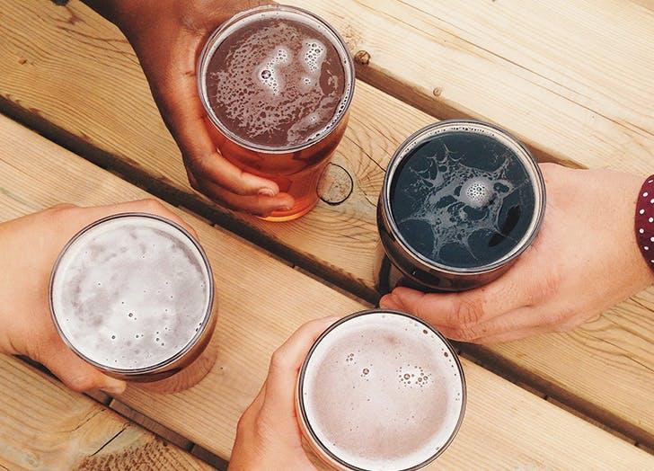 bartender drinks beer