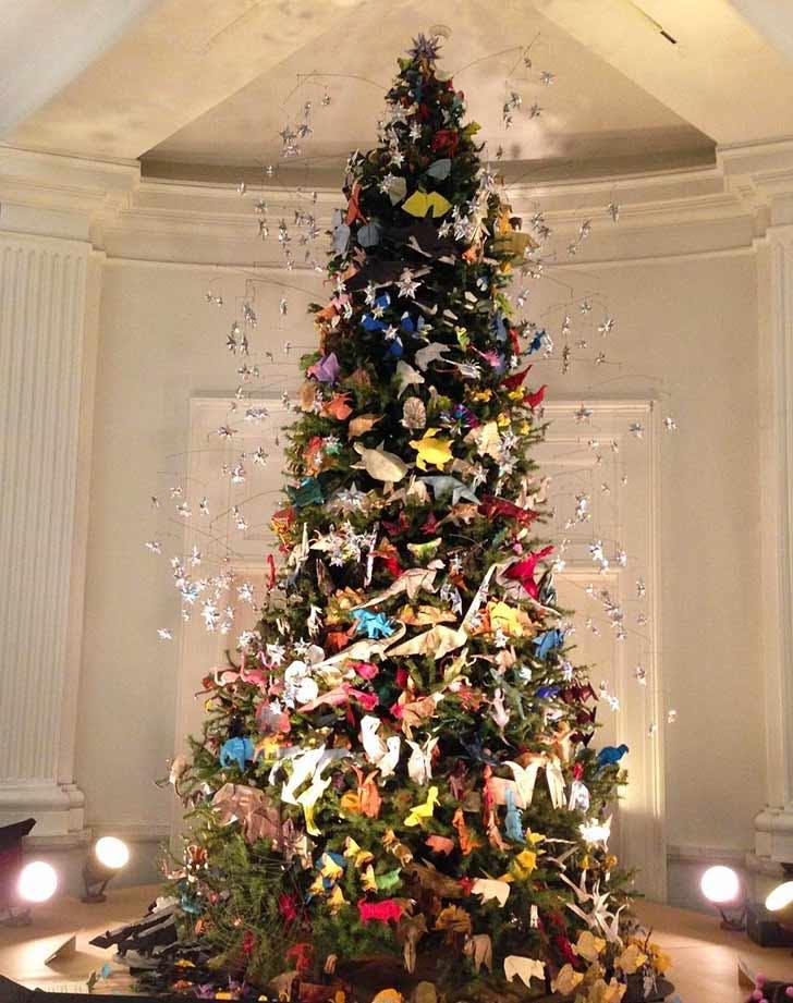 origami holiday tree NY 728