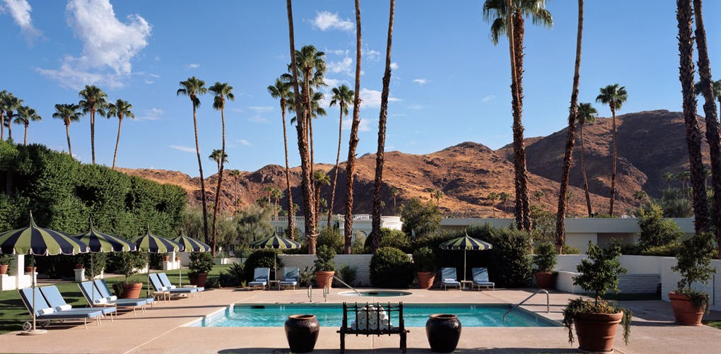 The best long weekend vacations for warm weather purewow for Palm springs strip hotels