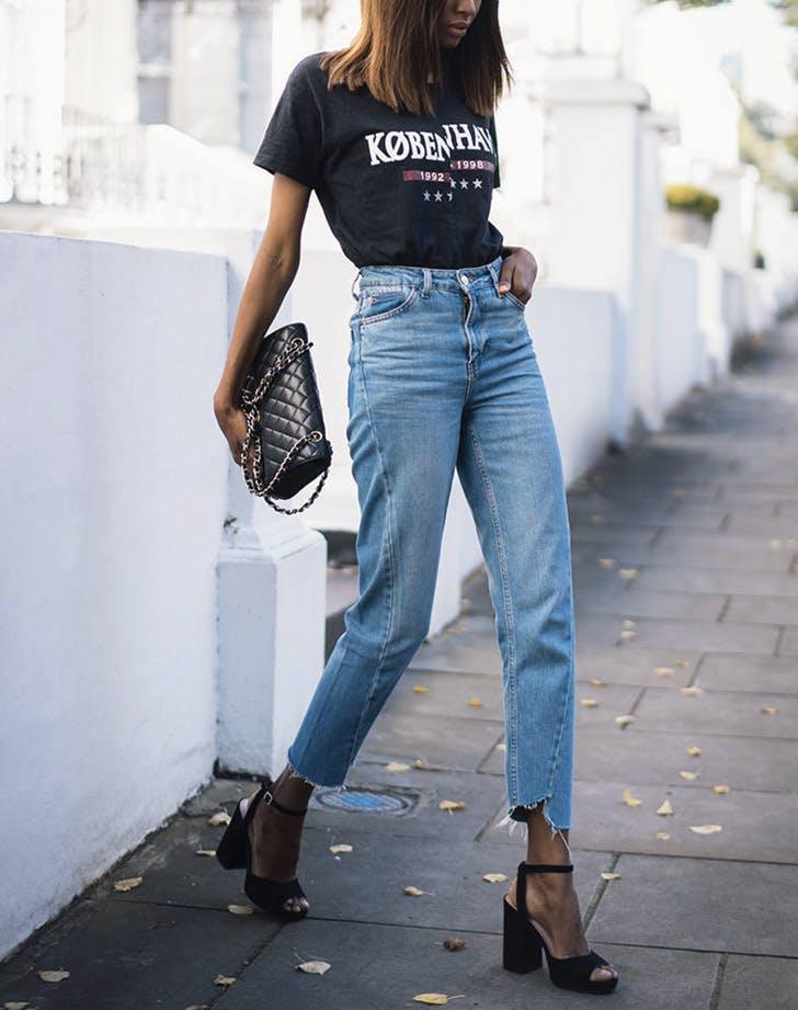 tshirt jeans platforms
