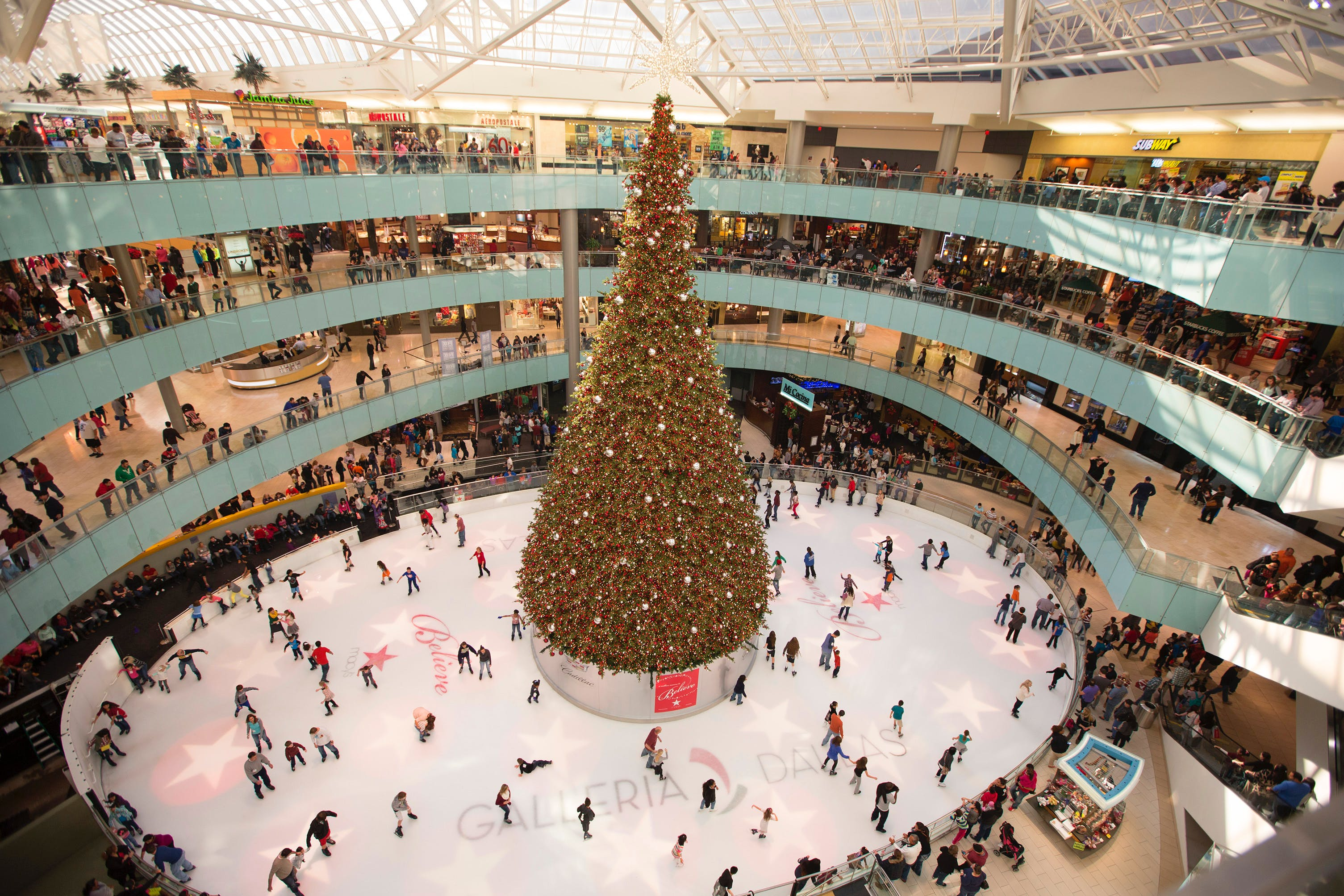 galleria ice skating dallas holiday guide