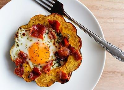 squash eggs bacon 400