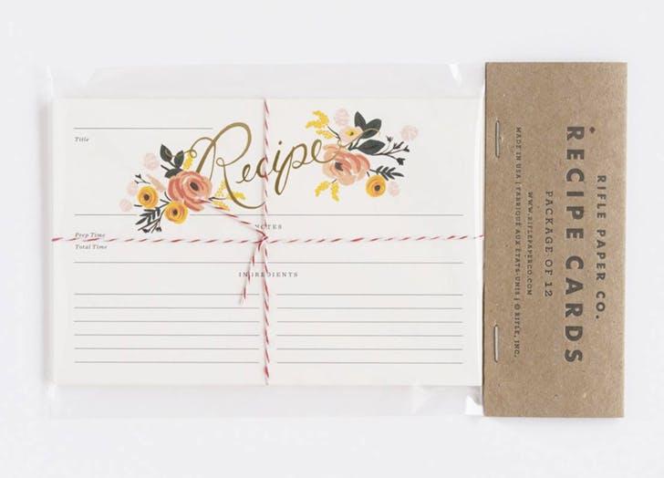 bridal shower recipe cards