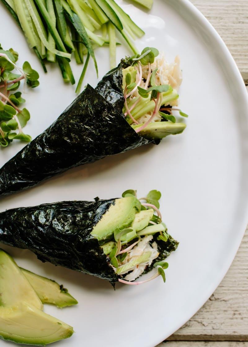 crab and avocado rolls