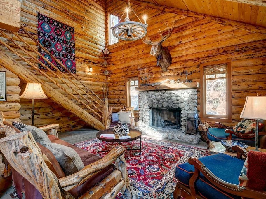 edelweiss log cabin in idyllwild pine cove