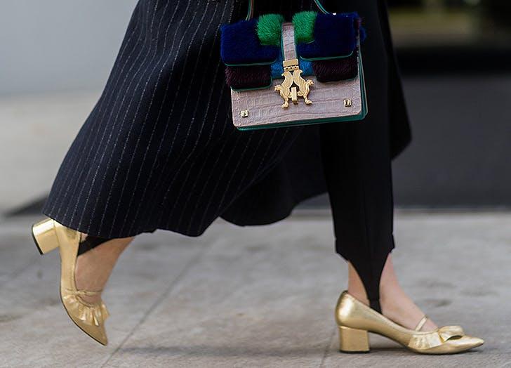 shoe trends metallic