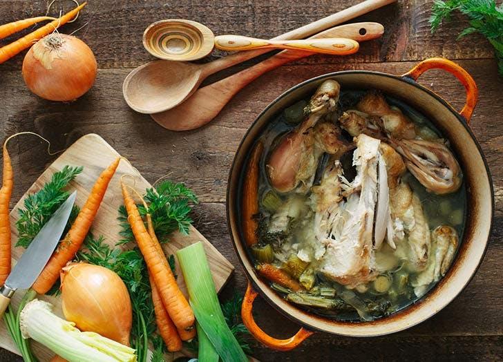 springbone kitchen chicken broth nyc