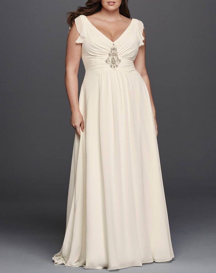 wedding dress cap sleeves