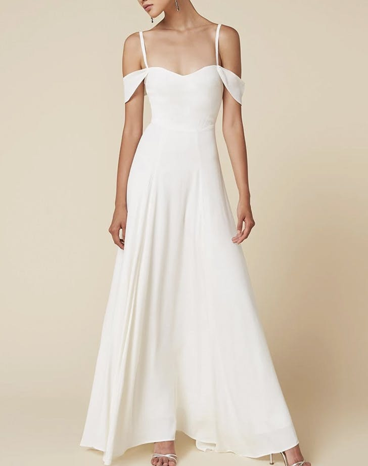 wedding dresses spaghetti strap