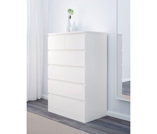 malm drawer chest white  0490260 PE624377 S4