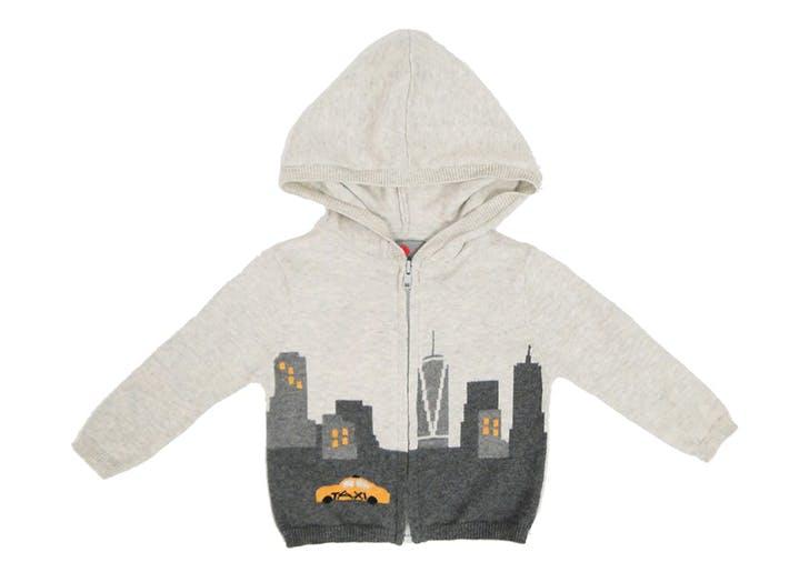 skyline taxi baby hoodie NY