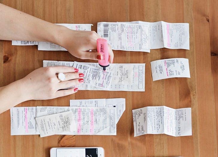 tax filing receipts