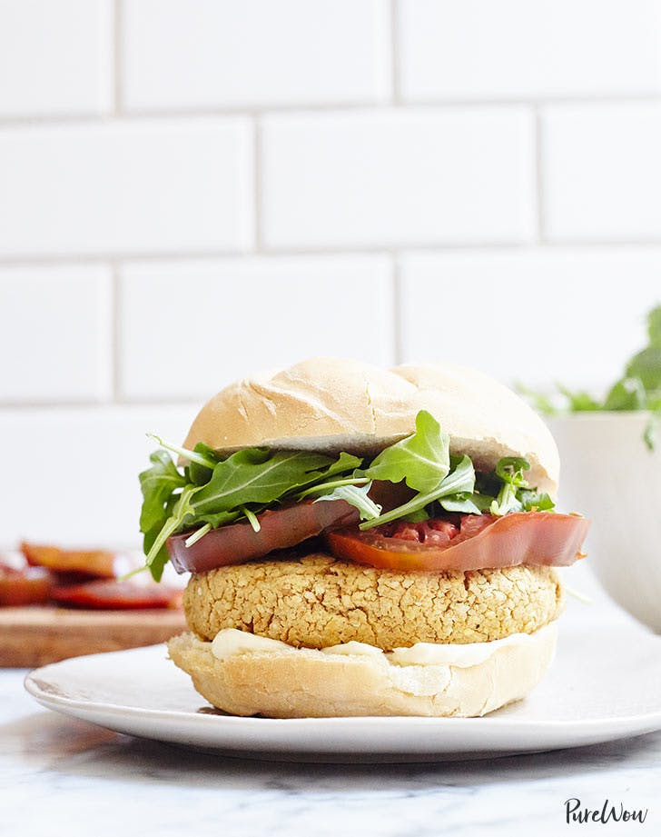 chickpea burger vertical