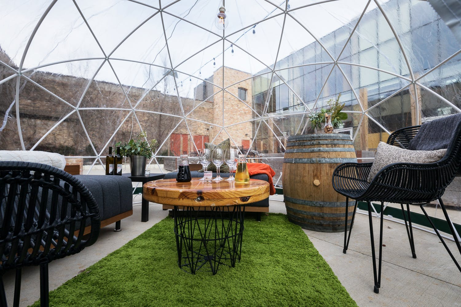 city winery riverwalk dome bubble chicago spring summer activities events photoshopped