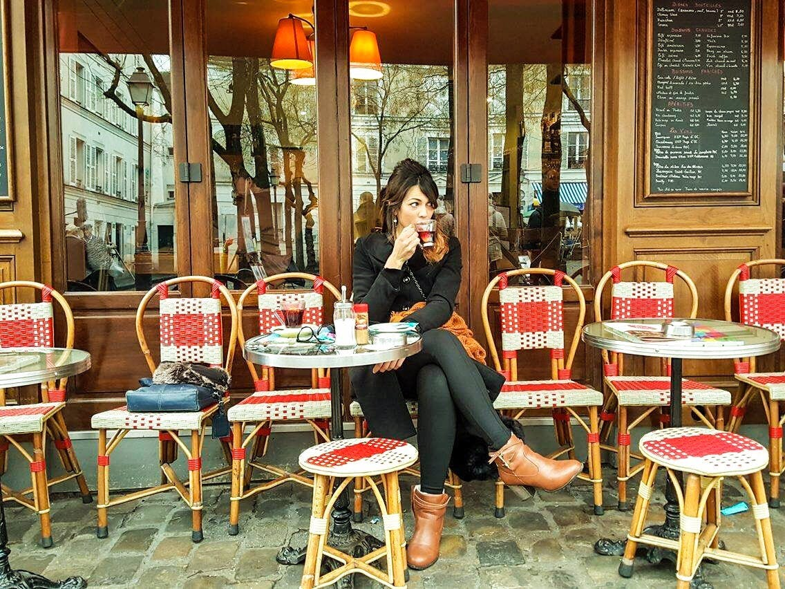 people watch cafe solo lady travel ideas