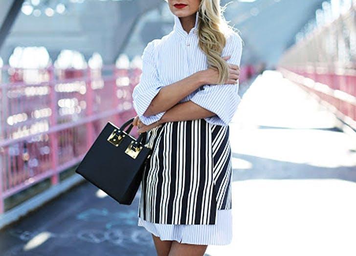 shirtdress skirt stripes NY