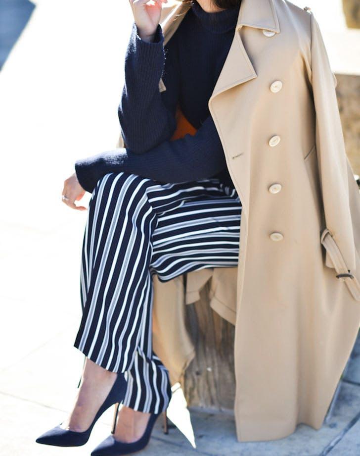 striped pants sweater NY
