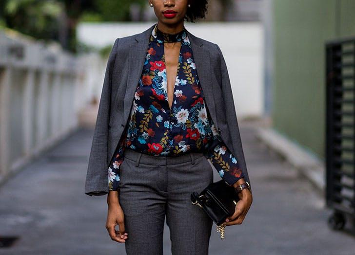 suit floral