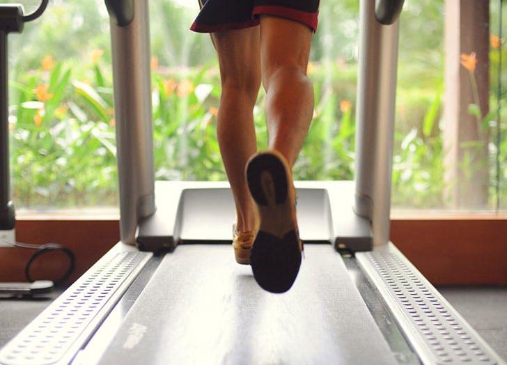 woman treadmill