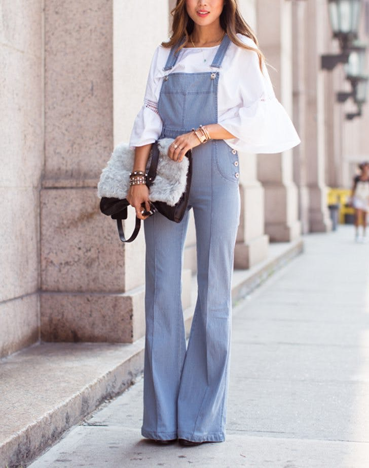 how_to_wear_overalls_bell_sleeves.jpg (728×921)